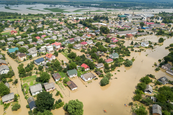 aerial-view-flooded-houses-with-dirty-water-dnister-river-halych-town-western-ukraine
