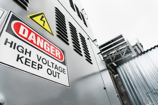 generator-set-with-inscription-danger-high-voltage-keep-out